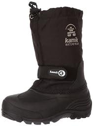 Kamik Waterbug 5 Cold Weather Boot (Toddler/Little Kid/Big Kid),Black,4 M US Big Kid