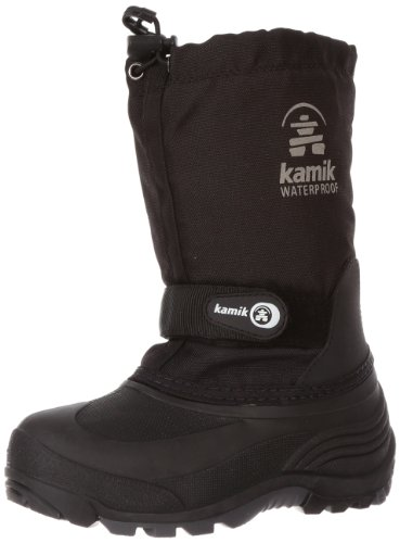 Kamik Waterbug 5 Cold Weather Boot (Toddler/Little Kid/Big Kid),Black,2 M US Little Kid (Kids Boots For Boys compare prices)