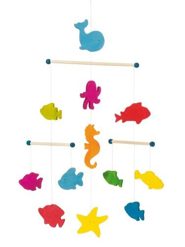 Goki - Ocean Animals Wooden Ceiling Mobile