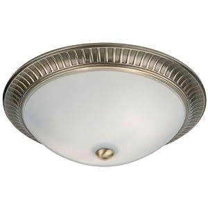 Endon lighting flush ceiling light round opal white for Kitchen spotlights amazon