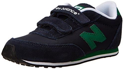 New Balance Ke410 Hook And Loop Running Shoe (Infant/Toddler/Little Kid/Big Kid),Navy/Green,6 W Us Toddler