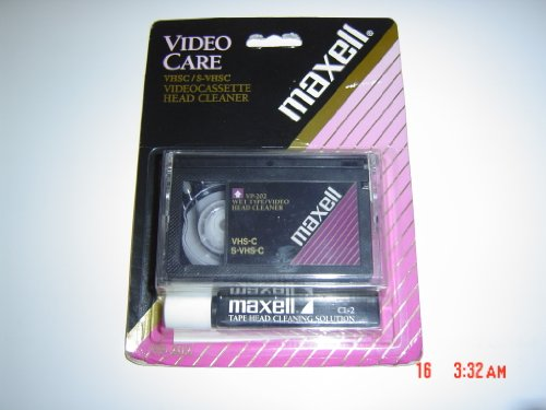 maxell-vhs-c-head-cleaner-with-cleaning-solution-this-is-for-compact-vhs-size-not-standard-vhs