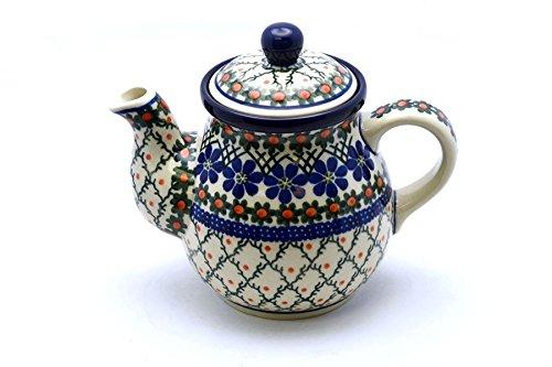 Polish Pottery Gooseneck Teapot - 20 oz. - Primrose (20 Oz Gooseneck Teapot compare prices)