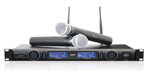 Technical Pro Wm1201 Professional Uhf Dual Wireless Microphone System