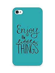 AMEZ enjoy the little things Back Cover For Apple iPhone 4