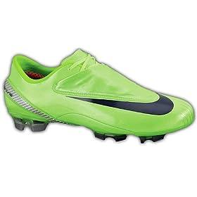 Nike Mercurial Vapor IV FG - Citron/Classic Charcoal/Metallic Silver Firm  Ground Soccer Shoes