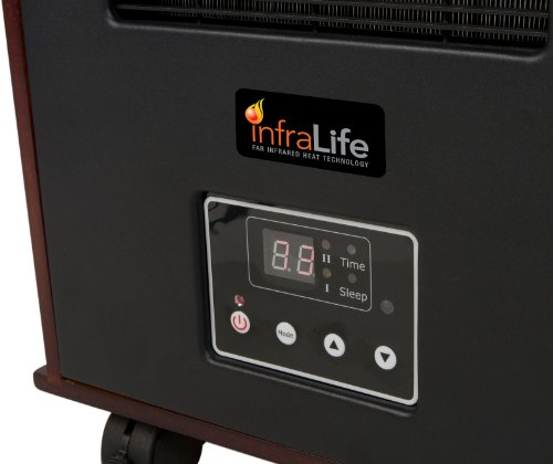 INFRALIFE 300PTC Infrared Radiant Space Heater with Remote Control and Music