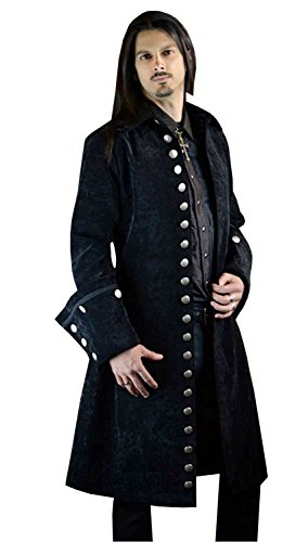 Shrine-Gothic-Victorian-Galleon-Steampunk-Captain-Black-Velvet-Jacket-Coat