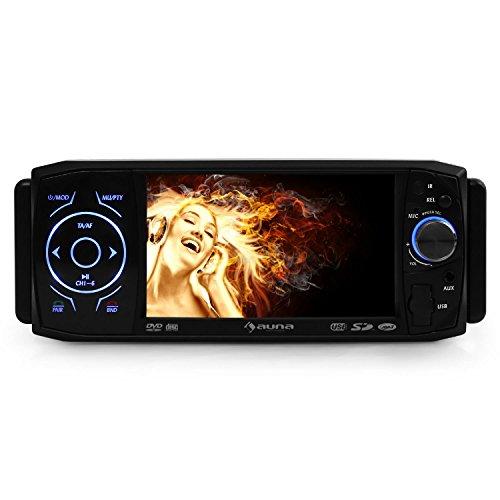 Auna-MVD420-Autoradio-Moniceiver-Bluetooth-Freisprecheinrichtung-mit-4311-cm-LCD-TFT-Touchscreen-DVD-codefree-Single-DIN-Fernbedienung-schwarz