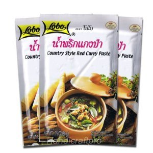 Lobo Thai Seasoning Thai Country Style Red Curry Paste 1.76 Oz (Pack of 3)