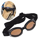 Enjoying Dog Black UV Eyewear Protection Goggles Stylish Sunglasses For Medium Dog