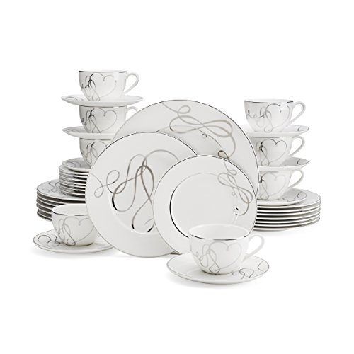 Mikasa Love Story 40-Piece Dinnerware Set, Service for
