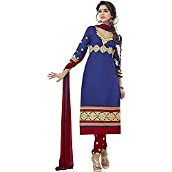 pakiza design new latest blue red cotton party wear salwar suit dress material