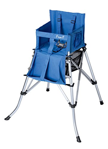 Creative Outdoor Folding High Chair, Blue