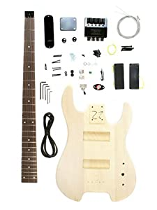 Stellah Unfinished Headless Bass Guitar Kit Project - DIY (New)
