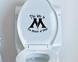 Harry Potter Inspired This Way to the Ministry of Magic 6 Inch Vinyl Toilet Decal