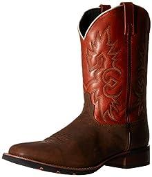 Laredo Men\'s Salt Lick Western Boot, Bark/Rust, 9.5 D US