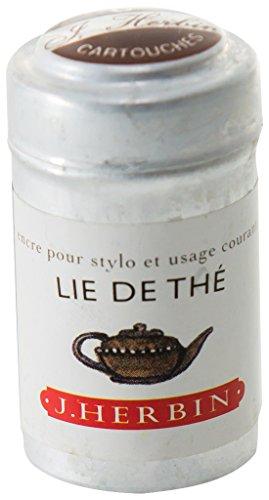 Herbin Boîte de 6 cartouches d'encre standard Lie de thé