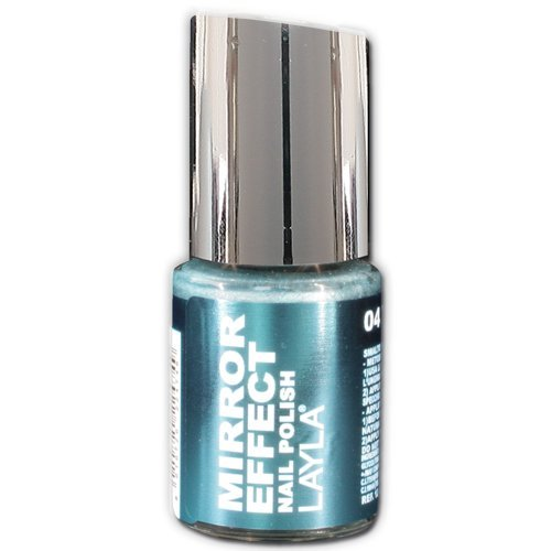 Layla Cosmetics 1247R23-004 Smalto, Effetto Specchio, Tonalità 04 Titanium Sky