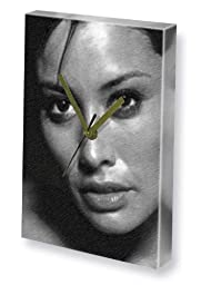 MELANIE SYKES - Canvas Clock (A4 - Signed by the Artist) #js001