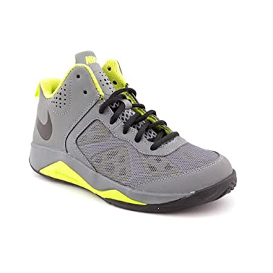 Nike Dual Fusion BB GS Youth Boys Size 5.5 Gray Basketball Shoes UK 5