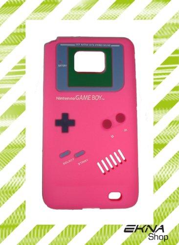 "Samsung Galaxy S2 i9100 ""Nintendo Gameboy Pink"" Silikon-Hülle RETRO LOOK Case Schutz NEU"