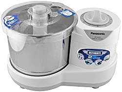 Panasonic FBAMKSW200 230-Watt Plastic Wet Grinder With Automatic Timer, 2 Litres, White and Metallic