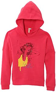 Watts Nalou Sweat à capuche fille Rose FR : 10 ans (Taille Fabricant : 10 ans)