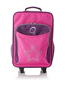 O3 Kids Rolling Luggage with Integrated Snack Cooler, Rhinestone Star by O3
