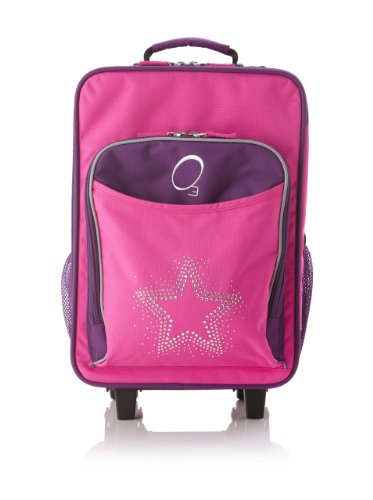 Find Cheap O3 Kids Rolling Luggage with Integrated Snack Cooler, Rhinestone Star