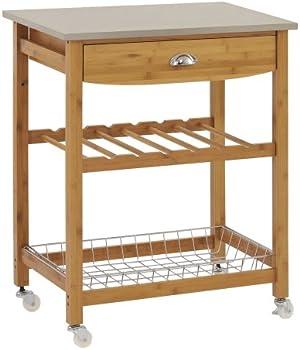 Sandusky Wood Kitchen Utility Cart