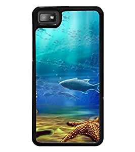 Fuson Premium 2D Back Case Cover Aquatic life With Grey Background Degined For Blackberry Z10
