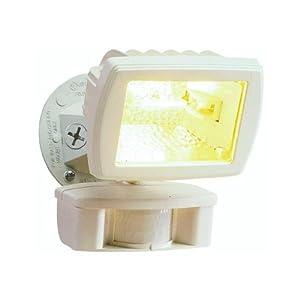 Cooper%2FRegent Cooper Lighting MS80W 110 Degree 150W Halogen Motion Security Floodlight, White