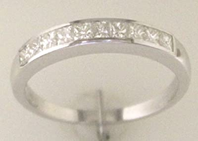 9ct White Gold Ladies Certified Half Eternity Ring - Colour G Clarity VS - Independent Diamond Certificate