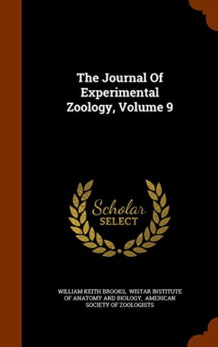 The Journal Of Experimental Zoology, Volume 9