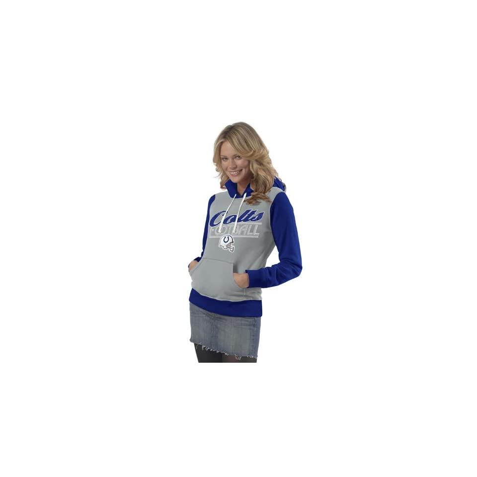 NFL Indianapolis Colts Ladies Divisional Pullover Hoodie   Ash (Small)  Athletic Sweatshirts  Clothing
