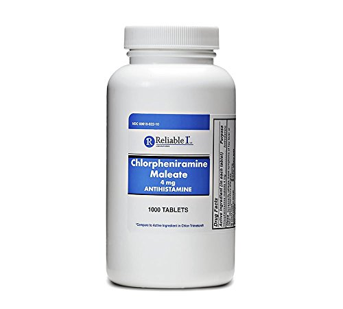 Reliable 1 Chlorpheniramine Maleate 4mg 1000 Tablets (1 Bottle) (Chlorpheniramine 1000 compare prices)