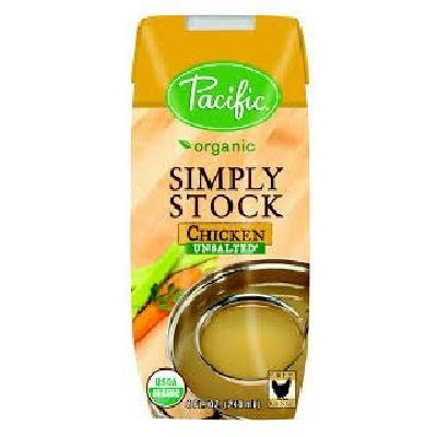 Pacific Natural Foods Organic Unsalted Simply Stock Chicken, 8 oz (Chicken Stock 8oz compare prices)