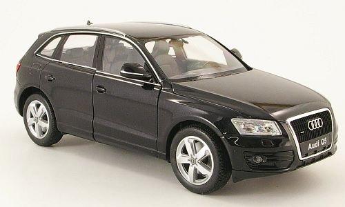 Audi-Q5-schwarz-Modellauto-Fertigmodell-Welly-124