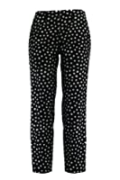 Cambio Smeralda Side Zip Ankle Pant in Polka Dot Black