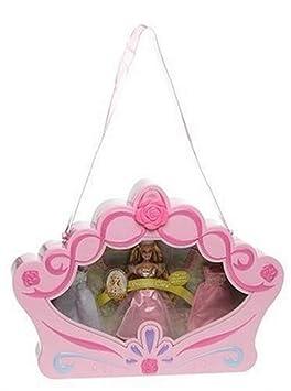 Mattel - Poupée - Mini Princesse  Sac Diadème+
