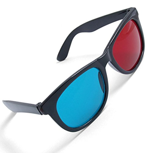 Fine commodities Red-blue / Cyan Anaglyph Simple style 3D Glasses 3D movie game-Extra Upgrade Style