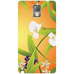 Samsung Galaxy Note 3 N9000 White Flowers Matte Finish Phone Cover