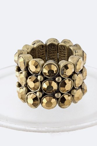 Baubles & Co Crystal Band Ring (Gold)