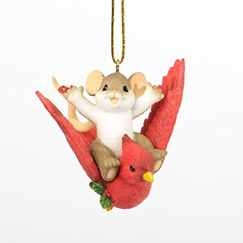 Enesco Charming Tails Holiday Traveler Ornament, 2.375-Inch