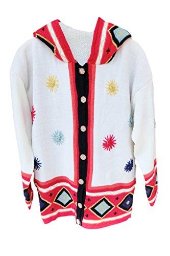 Pink Wind Womens Lamb Wool Sweaters Witch Cardigan Cute Magic Hoodies S