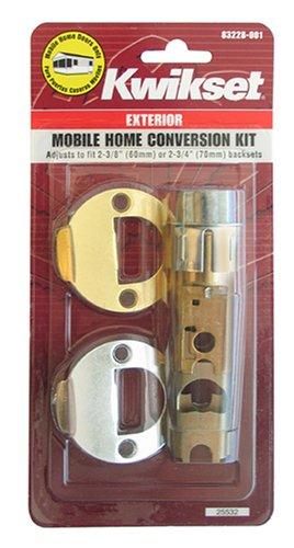Kwikset 22827 Cp Dl 2wal Di 3 26 Cnv Kit Mobile Home Exterior Entry Lock Conversion Kit Hardware