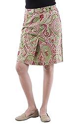 AARR green paisley printed knee length skirt