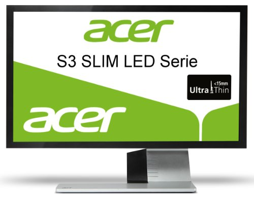 Acer S243HLBMI  24-inch HD Widescreen LED TFT Monitor (8000000:1, 2ms, 250/m2, VGA, HDMI, Speakers, Ultra Thin LED Design, Black)