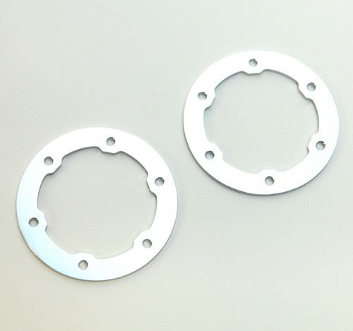 ST Racing Concepts STP6236S Aluminum Light Weight Bead Lock Rings for The Traxxas Pro Slash and Slayer Epic Rims (1 Pair), Racing Silver